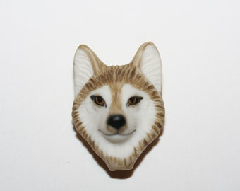 """Laura Mears """"Wolf"""" Porcelain Cabochon - RARE"""
