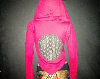 Cropped Flower of Life Hoodie // Eco- Friendly Bamboo!