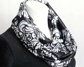 Damask Scarf - Valentine's Day Gift - Infinity Scarf - Women's Scarf - Gift for her - Fashion Scarf  - Gift For Wife - Ladies Scarf
