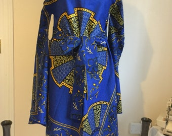African Print Dress in Vibrant Colours , for Contemporary styles