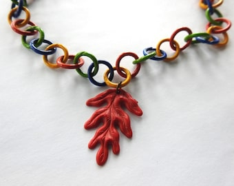 Celluloid Chain with Leaf