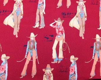 Rare Vintage Alexander Henry Fabric USA 'Lonestars' 2004