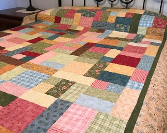 Twin quilt,colorful quilt, rainbow quilt
