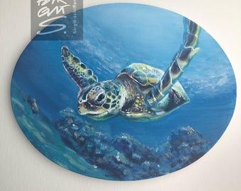 Water Turtle – Original, unique, acrylic on canvas