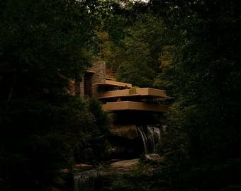 Fallingwater Classic View Photo August 2016 Nature Architecture Frank Lloyd Wright