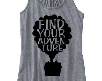 Find your adventure Tank, Up tank, Disney movie tank, Disney World tank, Disney trip tank, Disney tank, Disney tank