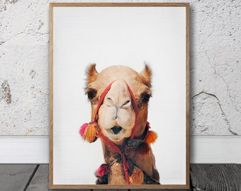 Camel Print -  Digital Prints, Desert Animal, Wall Art, Peekaboo Print, Boho, Bohemian Prints , Nursery Wall Art, Moroccan Decor, Boho