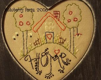 Instant Download Home Stitchery Pattern