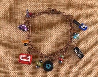 Retro Music Charm Bracelet