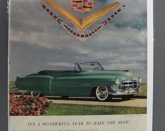 Cadi #123  Cadillac    Magazine Ad -   1950s