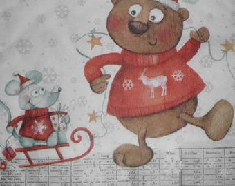 047 Christmas Teddy bear paper towel