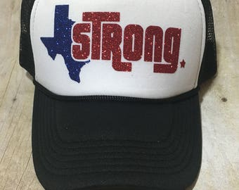 Texas Strong Trucker Hat - 100% of proceeds will go to Derby girls hit by Harvey