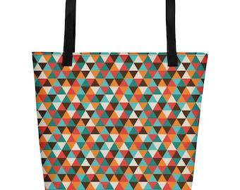 Vacation Stylish Trendy Geometric Hipster Beach Bag