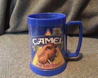 Camel Collectible Thermo Serv plastic mug 1988 75th Anniversary