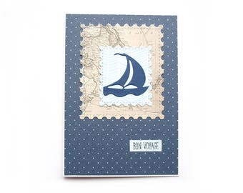 Folded card, Bon Voyage