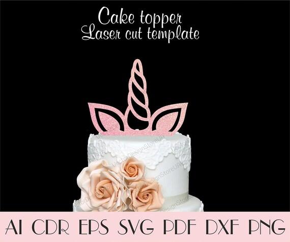 Unicorn Horn Ears Cupcake Topperunicorn Cake Topperunicorn