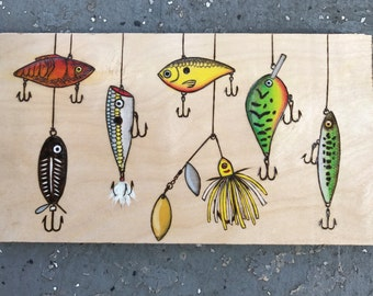 Fishing Lure Woodburning