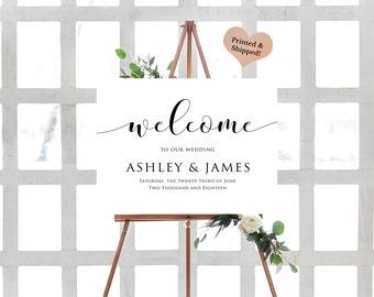 Custom Wedding Welcome Sign- Custom Wedding Sign- Welcome To Our Wedding Sign- Large Wedding Sign- Welcome Poster Board-Rustic Wedding Sign-