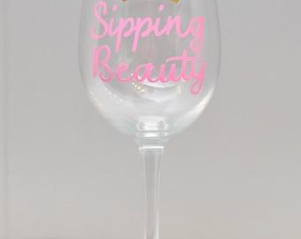Wine Glass (18.5 oz) - Sipping Beauty (Sleeping Beauty)
