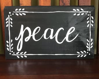 Peace on tongue and groove scrap wood