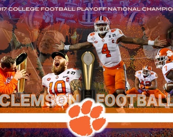 Clemson Football National Championship Poster (FREE SHIPPING)