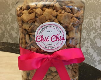 Large party/family size 2500g (2.5kg) Jar of Chinchin