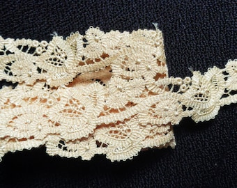 7/8 inch wide beige color lace selling by the yard