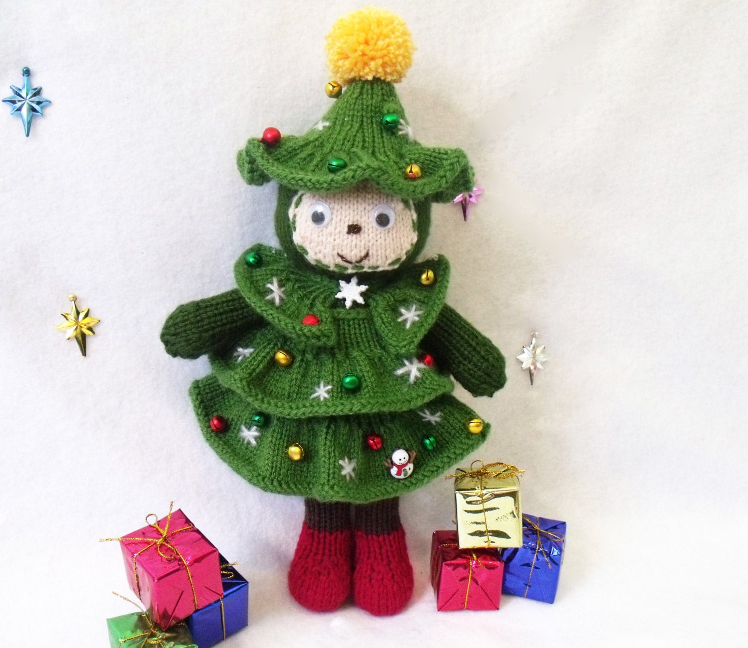 Christmas tree doll toy knitting pattern christmas zoom bankloansurffo Image collections