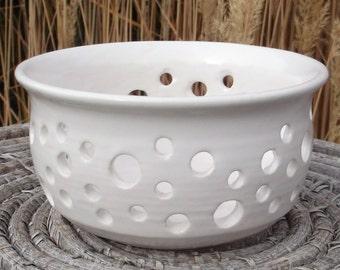 White Tea Bag Holder - Circle of Life - Handmade pottery
