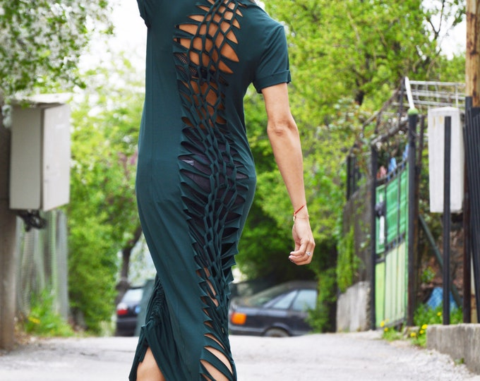 Maxi Dress, Summer Dress, Cotton Military Dress, Plus Size Loose Dress, Women Everyday Dress, Oversize Kaftan by SSDfashion