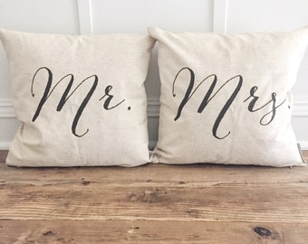 Mr & Mrs Pillow Cover Set