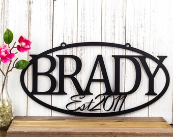 Family Established Metal Sign | Name Sign | Established | Metal Wall Art | Custom Sign | Outdoor Sign | House Sign