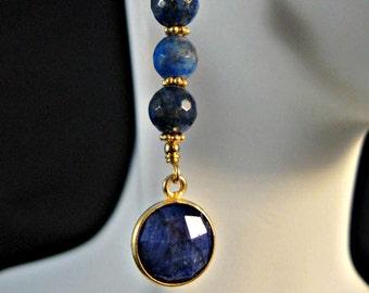 Lapis Lazuli Dangle Earrings,Blue Lapis Earrings,Drop Earrings,Dangle Earrings,Gemstone Earrings,Lapis Lazuli earrings,gold earrings,lapis
