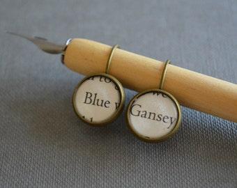 Gansey and Blue The Raven Boys Book Earrings