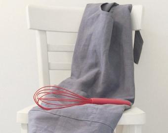 Custom made linen apron, No tie cross back, Pinafore apron, Natural linen, Eco friendly