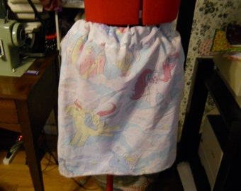 Vintage MLP My Little Pony Pastel Kawaii Skirt with Lace Trim Handmade