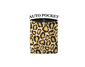 Auto Pocket - Leopard Print - Car Accessory Automobile Caddy