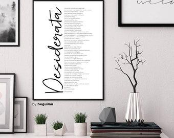 Desiderata Print, Max Ehrmann Poem, Desiderata Poster, Literature, Printable Wall Art, Inspirational Words, Motivational, Digital Download