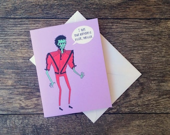 Zombie Michael Jackson Thriller Birthday Card!