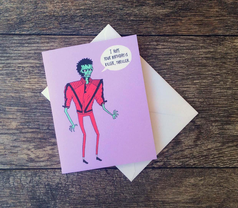 Michael jackson thriller birthday card zoom kristyandbryce Choice Image