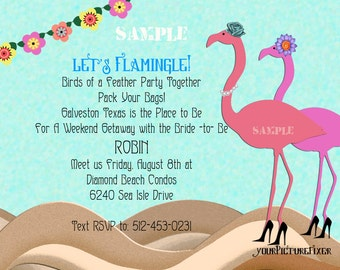 Aloha Invitations Shower Retirement Girlfriends Party