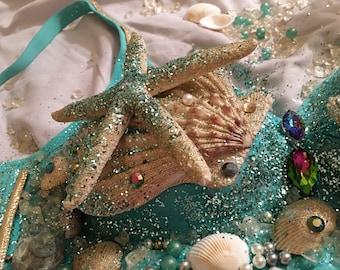 Custom Sea Goddess Mermaid Bra! Great for Festivals, Raves & Costume events!