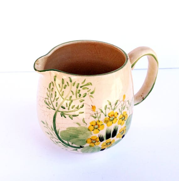 Vintage 1950's Hand Painted Tunstall Ceramic Pitcher - Made in England
