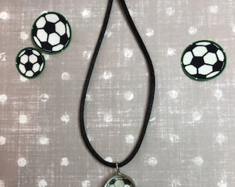 Soccer Necklace, Soldered Necklace, Leadfree Soldered Necklace, Soccer