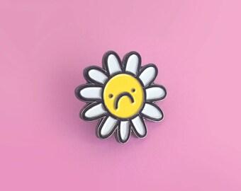 Flower Frown, enamel pin