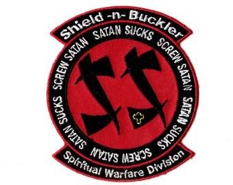 spiritual warfare  embroidered iron on patch