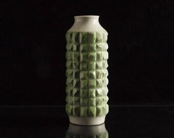Rare Vintage East German White and Green Porcelain Vase by WKCG - Weiss Kühnert & Co Gräfenthal 11890