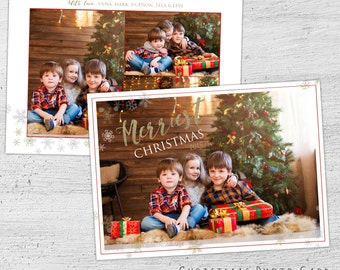 Holiday Photo Cards, Christmas Card Template, Christmas Cards, Photoshop Template, Photocard, Photo Christmas Cards, Photographer Template