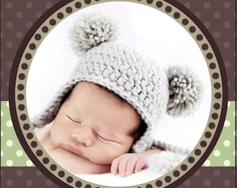 Baby Bear Hat PDF PATTERN Crochet, SIZE 12-24 months