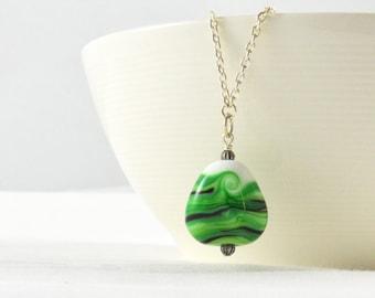 Long Pendant Necklaces for Women, Green Necklace, Unique Necklace, Layering Necklace, Unique Gift for Women, Australian Jewellery